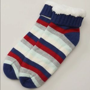 Indigo Men's Low-Rise Cabin Stripe Reading Socks